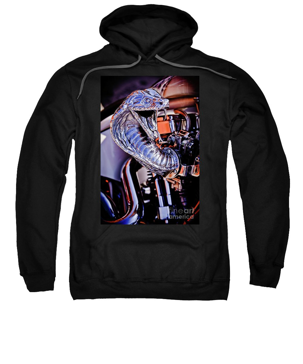 Bite Sweatshirt featuring the photograph Cobra Breath by Charles Dobbs