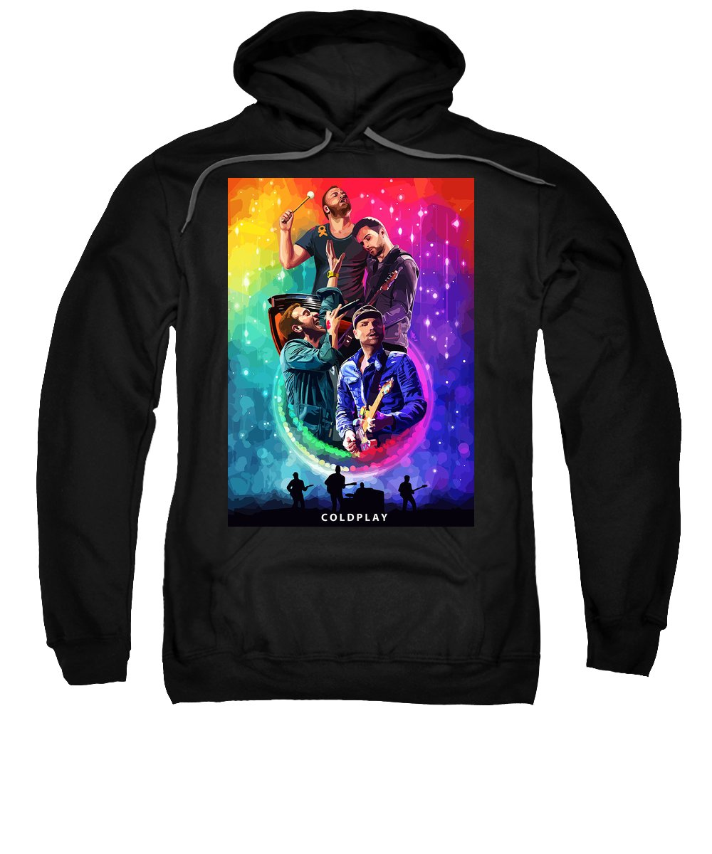 Coldplay Sweatshirt featuring the painting Coldplay Mylo Xyloto by FHT Designs