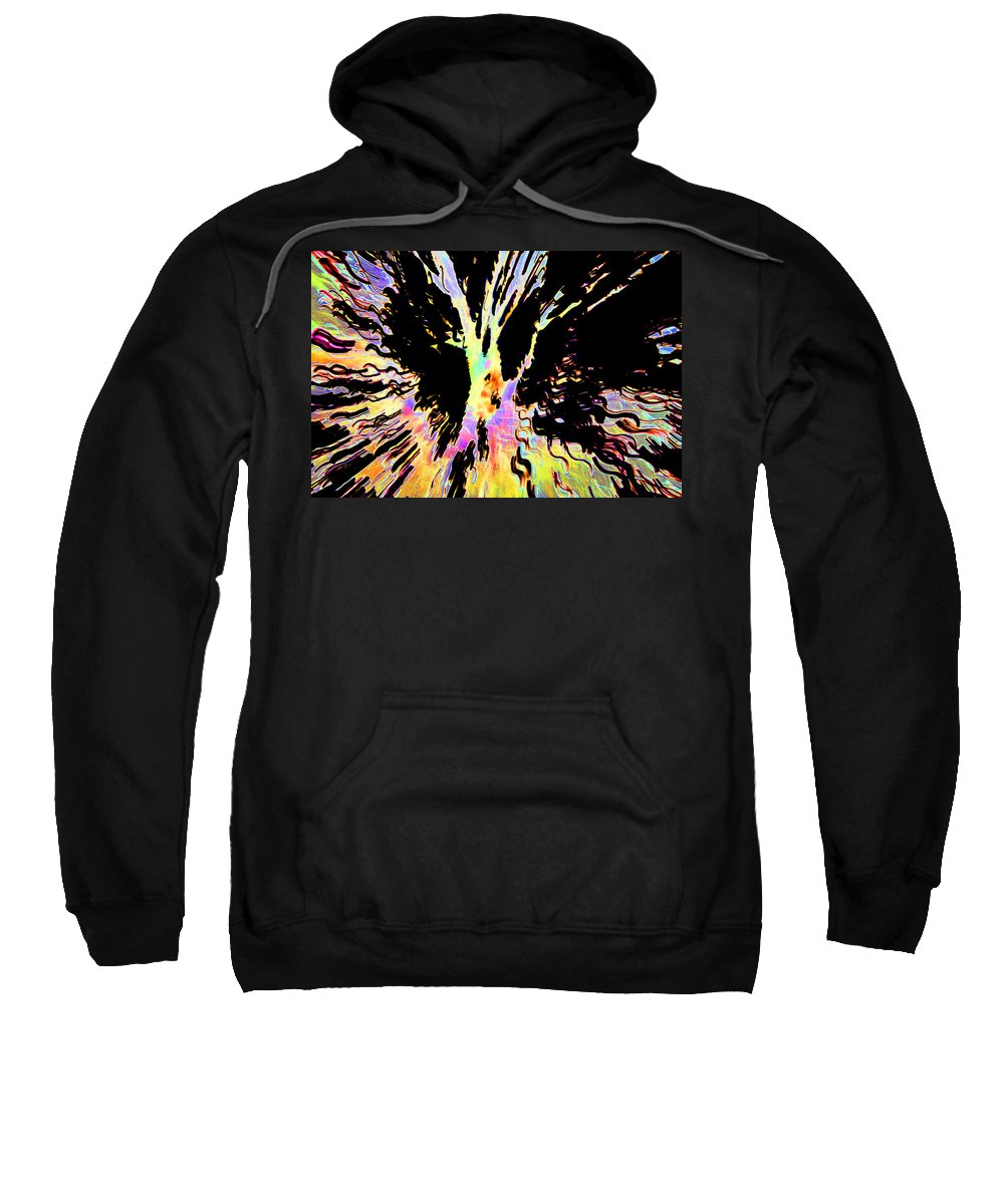 Black Sweatshirt featuring the photograph Color Trip by Ric Bascobert