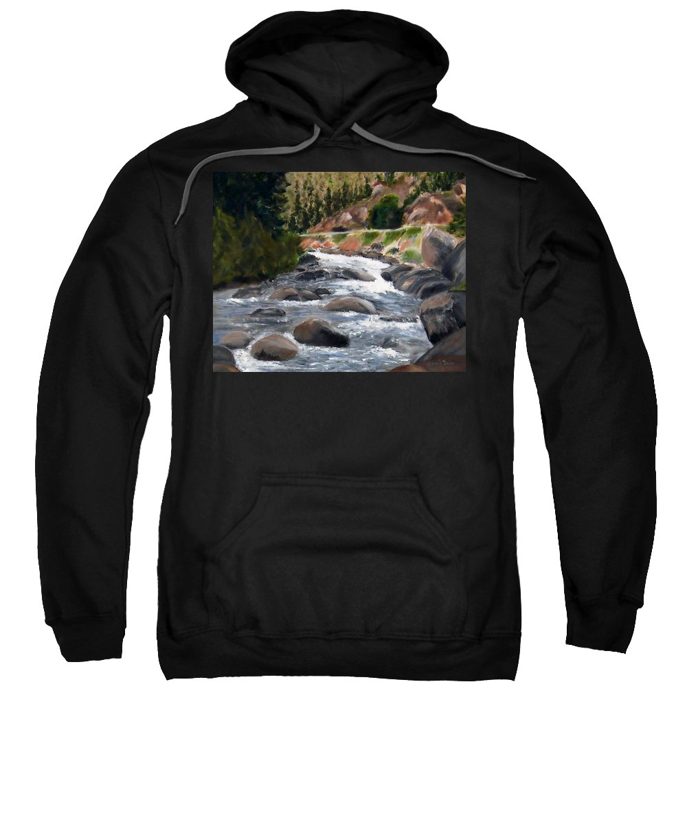 Water Sweatshirt featuring the painting Colorado Rapids by Jamie Frier