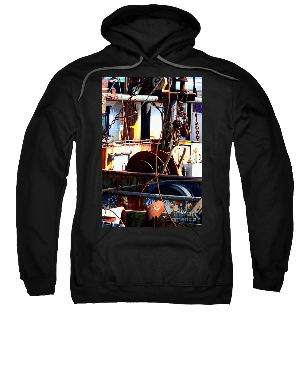 Rust Bucket Sweatshirt featuring the photograph Colorful Boat by Carol Groenen
