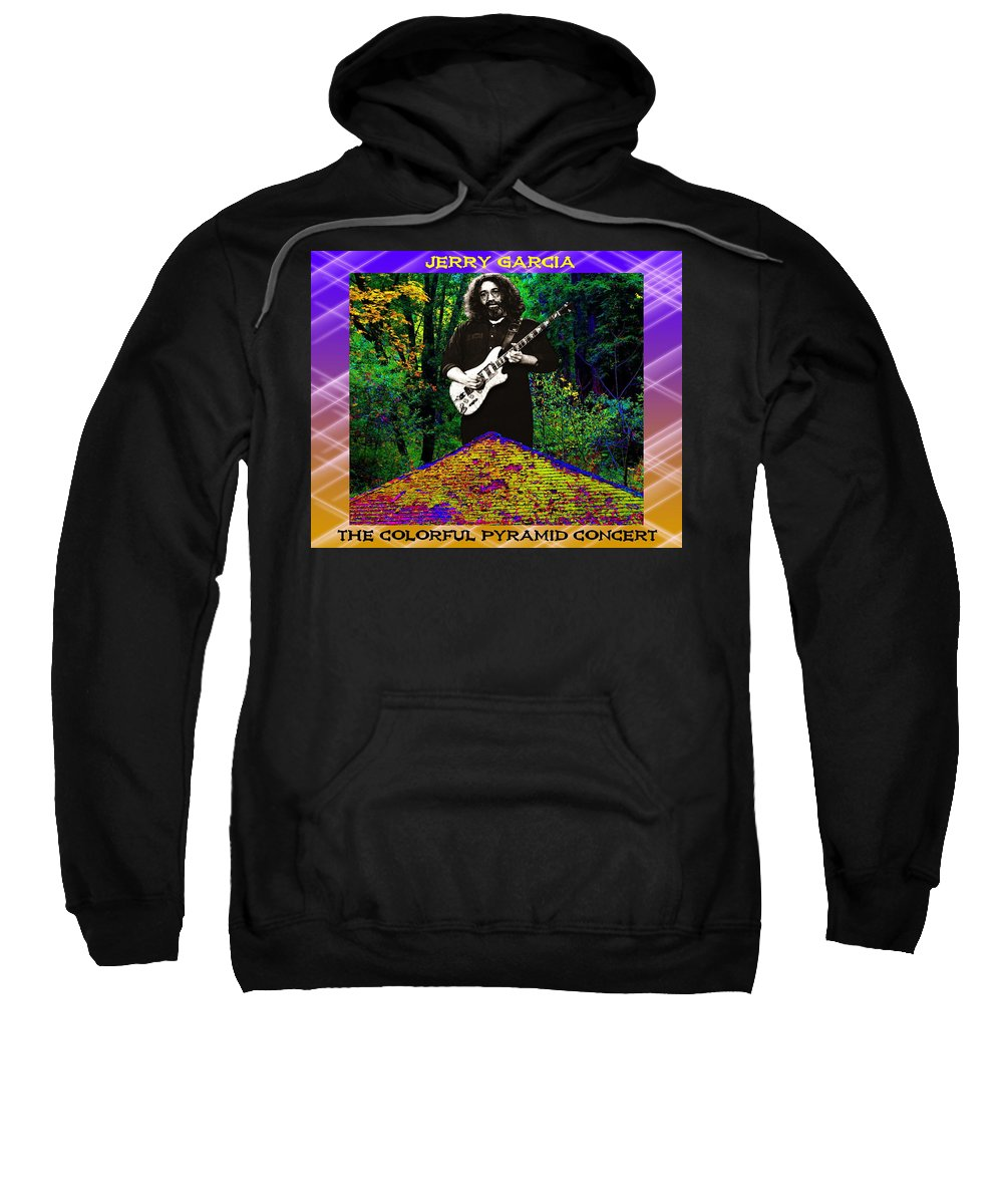 Jerry Garcia Sweatshirt featuring the photograph Colorful Pyramid Concert by Ben Upham