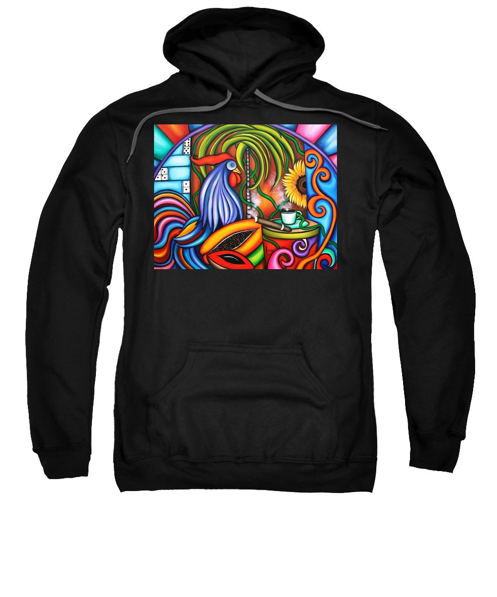 Cuba Sweatshirt featuring the painting Colors Of My World by Annie Maxwell
