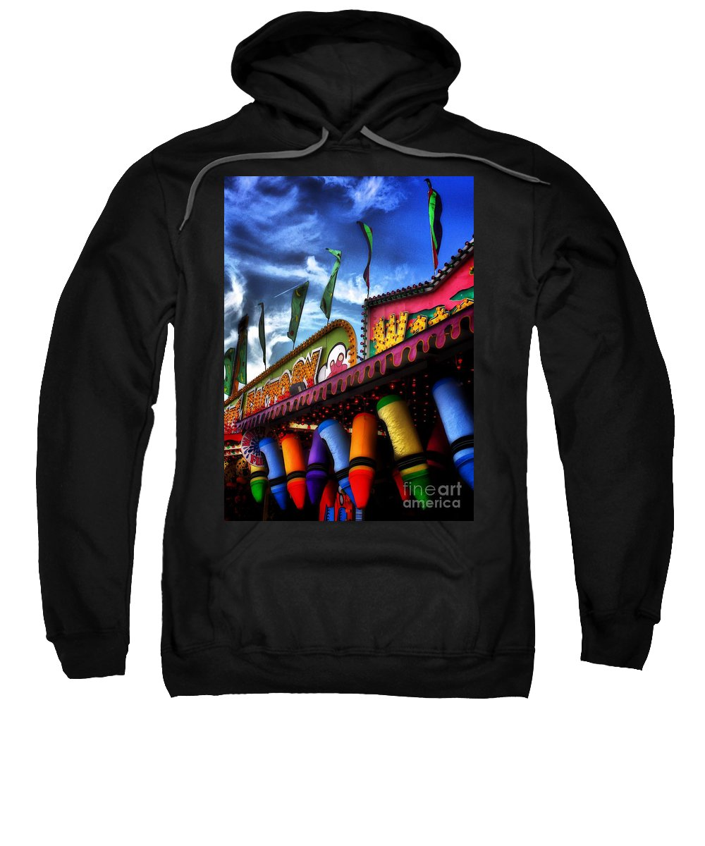 Architectural Art Sweatshirt featuring the photograph Colors Of The Midway 2 by Robert McCubbin