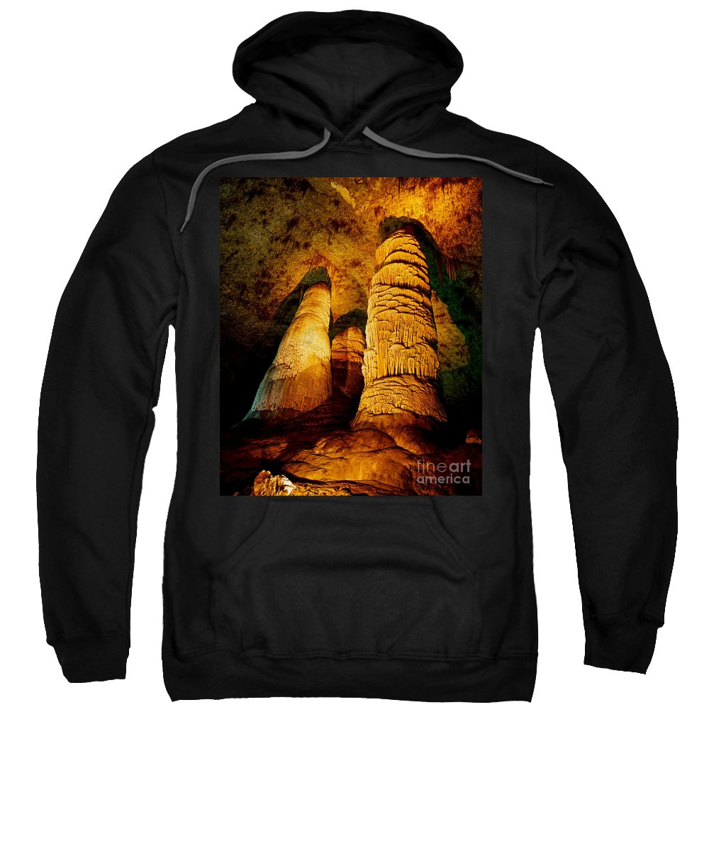 Carlsbad Caverns Sweatshirt featuring the photograph Dome And Column by Tracy Knauer