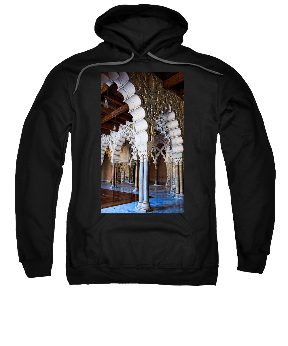 Column Sweatshirt featuring the photograph Columns And Arches No2 by Weston Westmoreland