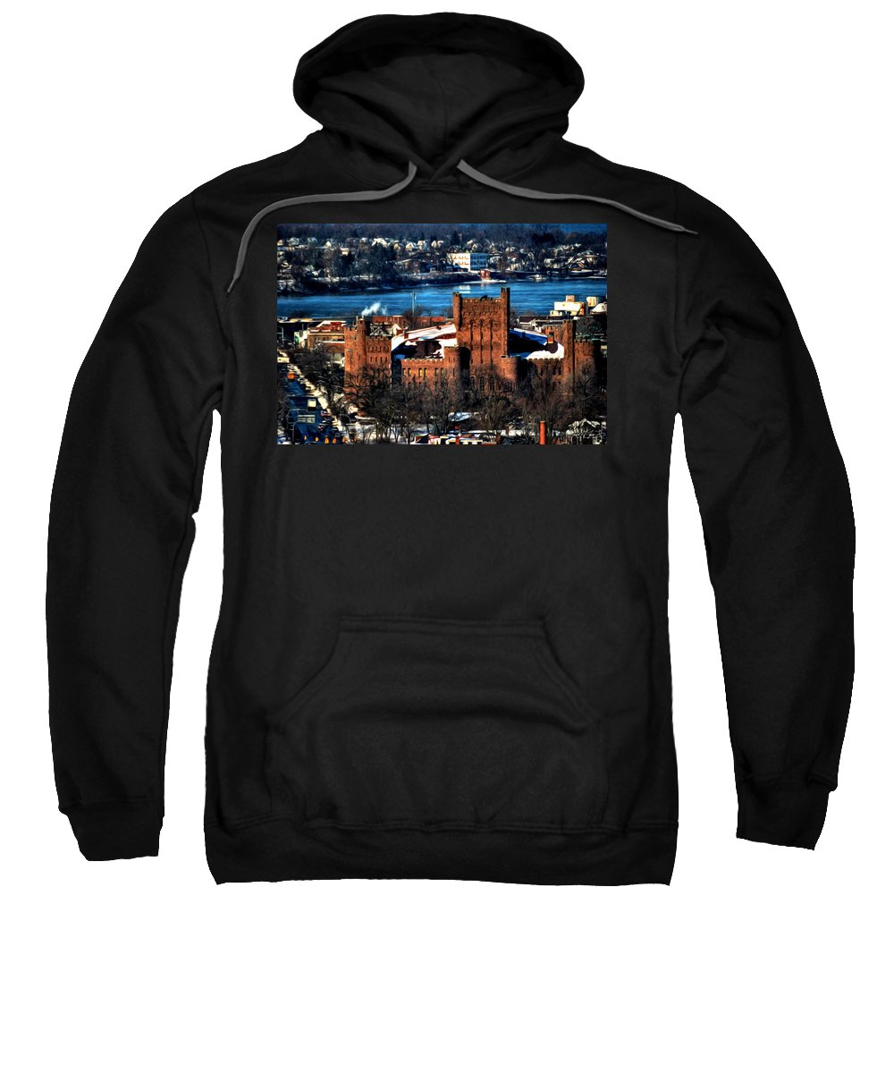 Winter Sweatshirt featuring the photograph Connecticut Street Armory Winter 2013 by Michael Frank Jr