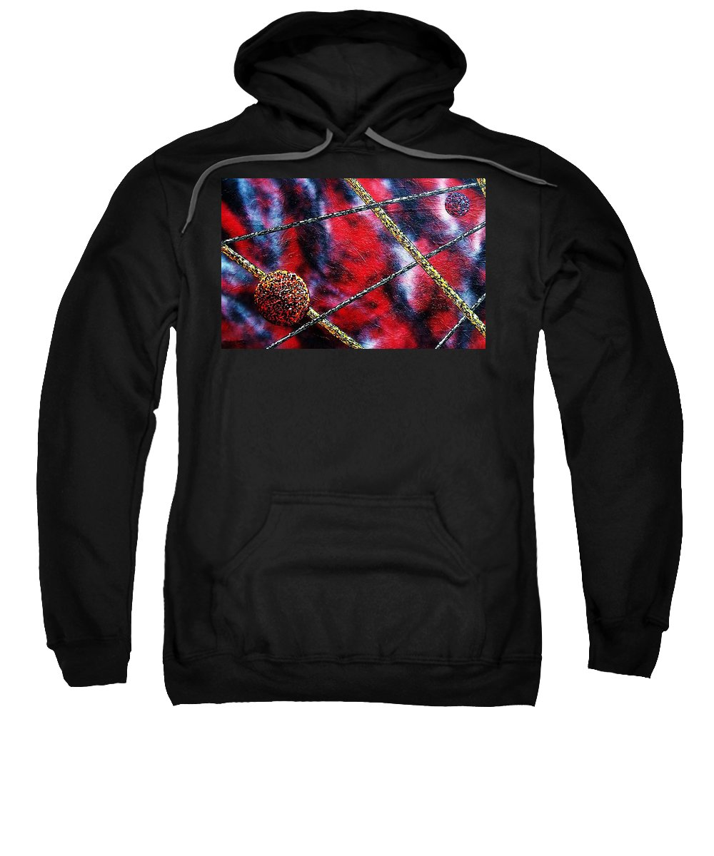Abstract Sweatshirt featuring the painting Continuum IV red sky by Micah Guenther