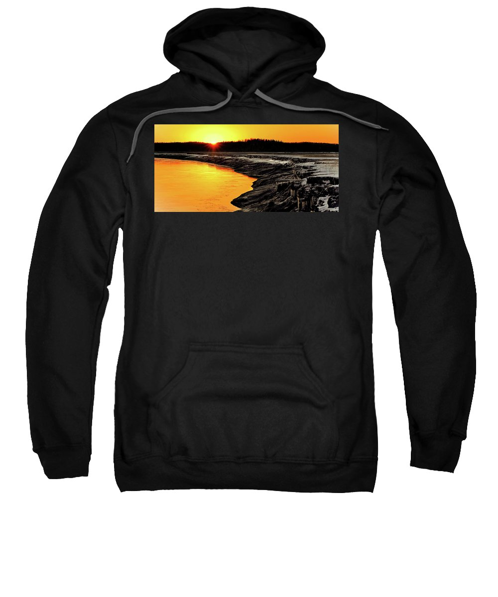Alaska Sweatshirt featuring the photograph Contrasts In Nature by Ron Day