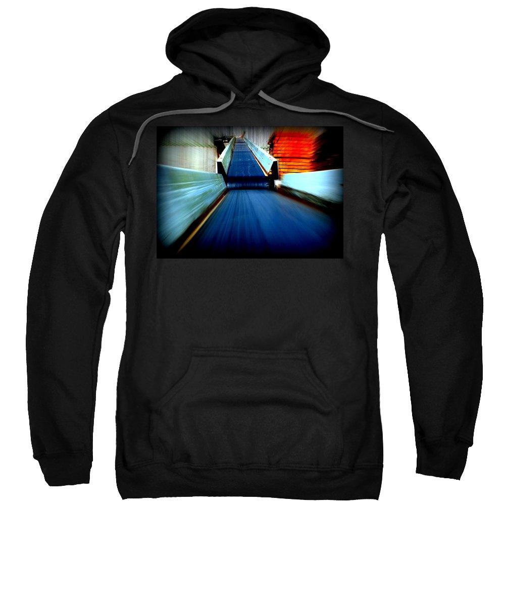 Hopper Sweatshirt featuring the photograph Conveyor by Guy Pettingell
