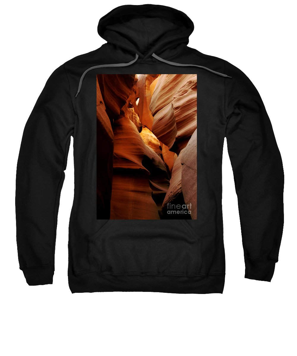 Antelope Canyon Sweatshirt featuring the photograph Convolusions by Kathy McClure