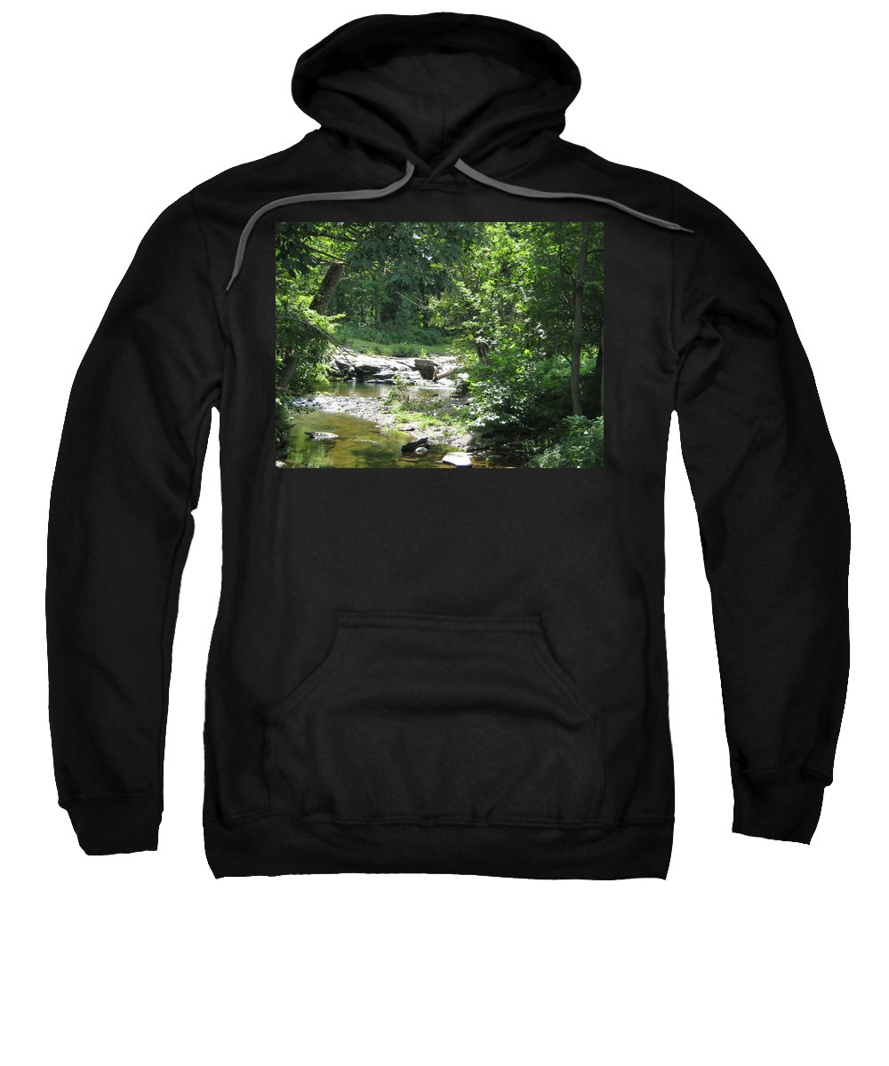 Creek Sweatshirt featuring the photograph Cool Waters II by Ellen Levinson