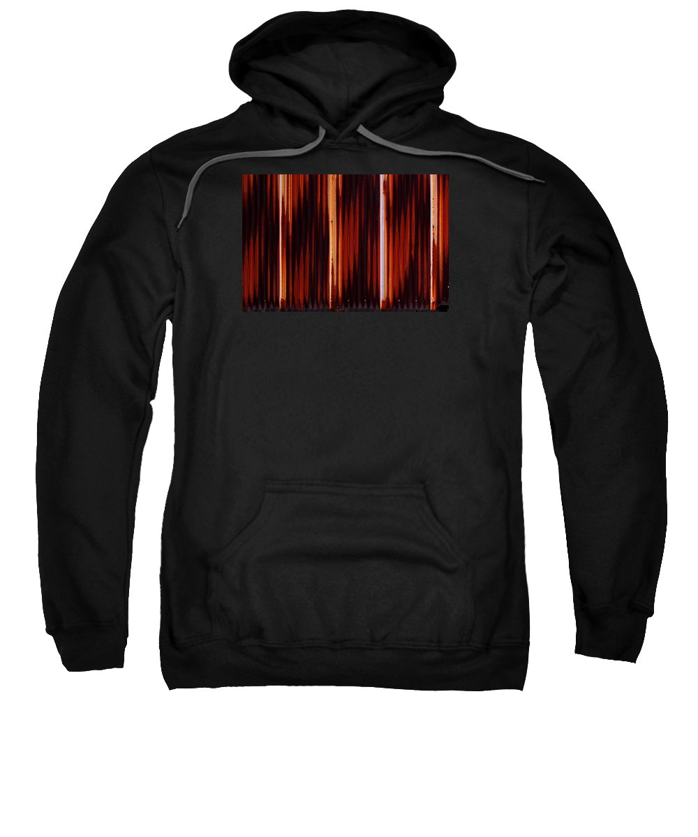 Corrugated Sweatshirt featuring the photograph Corrugated Patterns In Orange And Black by Greg Kluempers