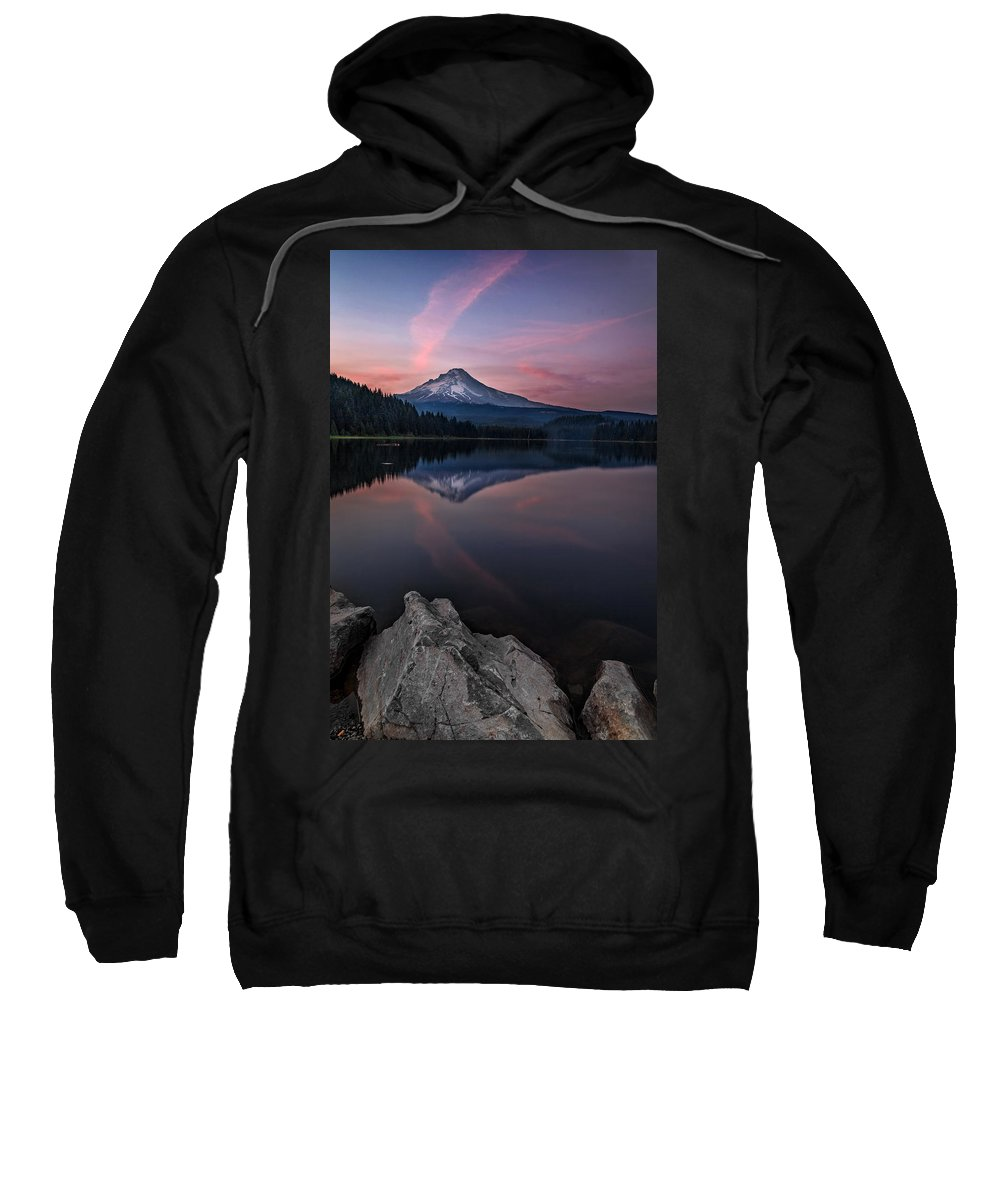 Cotton Candy Skies Sweatshirt featuring the photograph Cotton Candy Skies by Wes and Dotty Weber