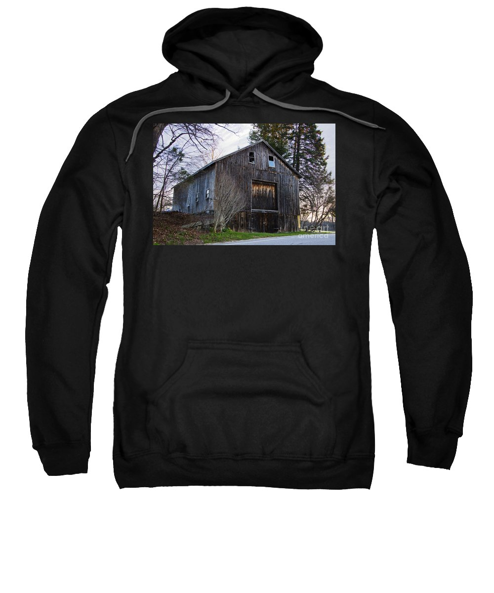 Barn Sweatshirt featuring the photograph Country Barn by Mary Koenig Godfrey