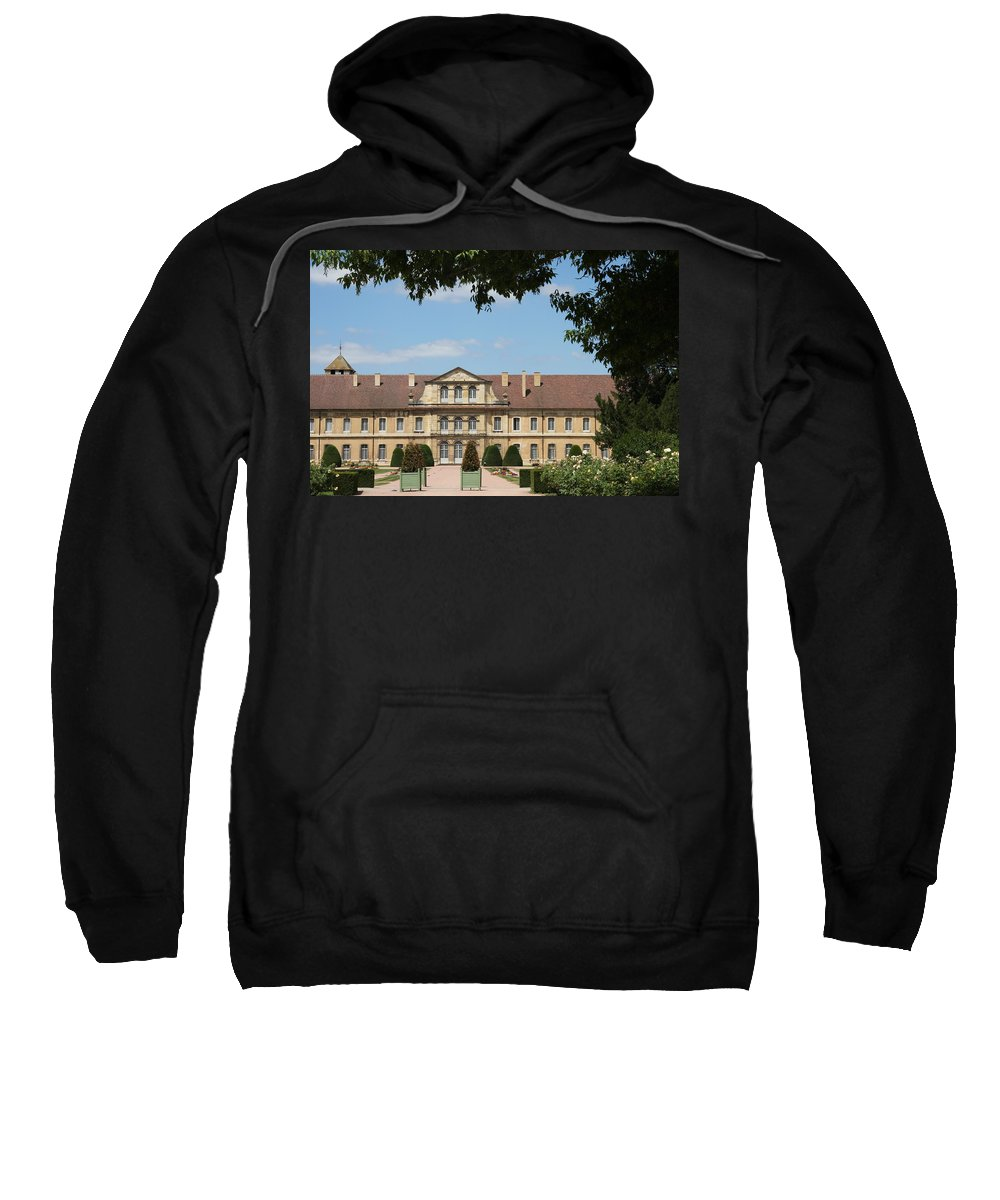 Cloister Sweatshirt featuring the photograph Courtyard Cloister Cluny by Christiane Schulze Art And Photography