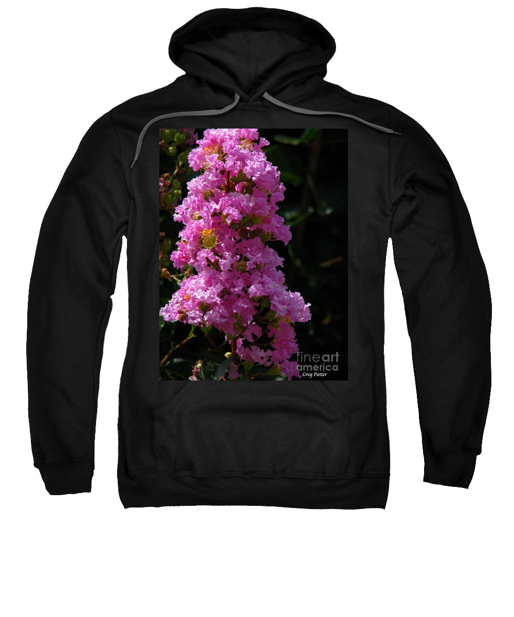 Art For The Wall...patzer Photography Sweatshirt featuring the photograph Crape Myrtle by Greg Patzer
