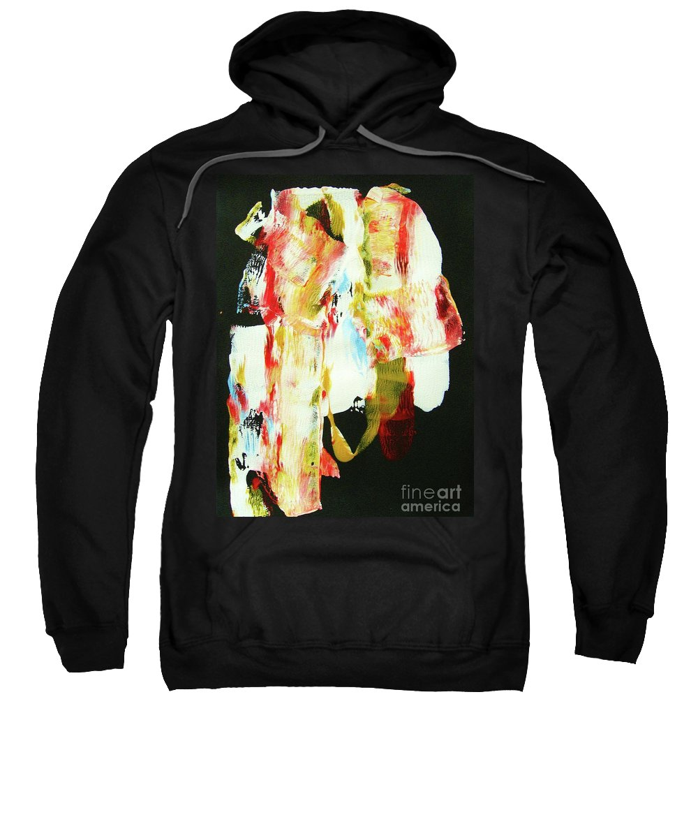 Abstraction Sweatshirt featuring the painting Crazy Horse An American Hero by Roberto Prusso
