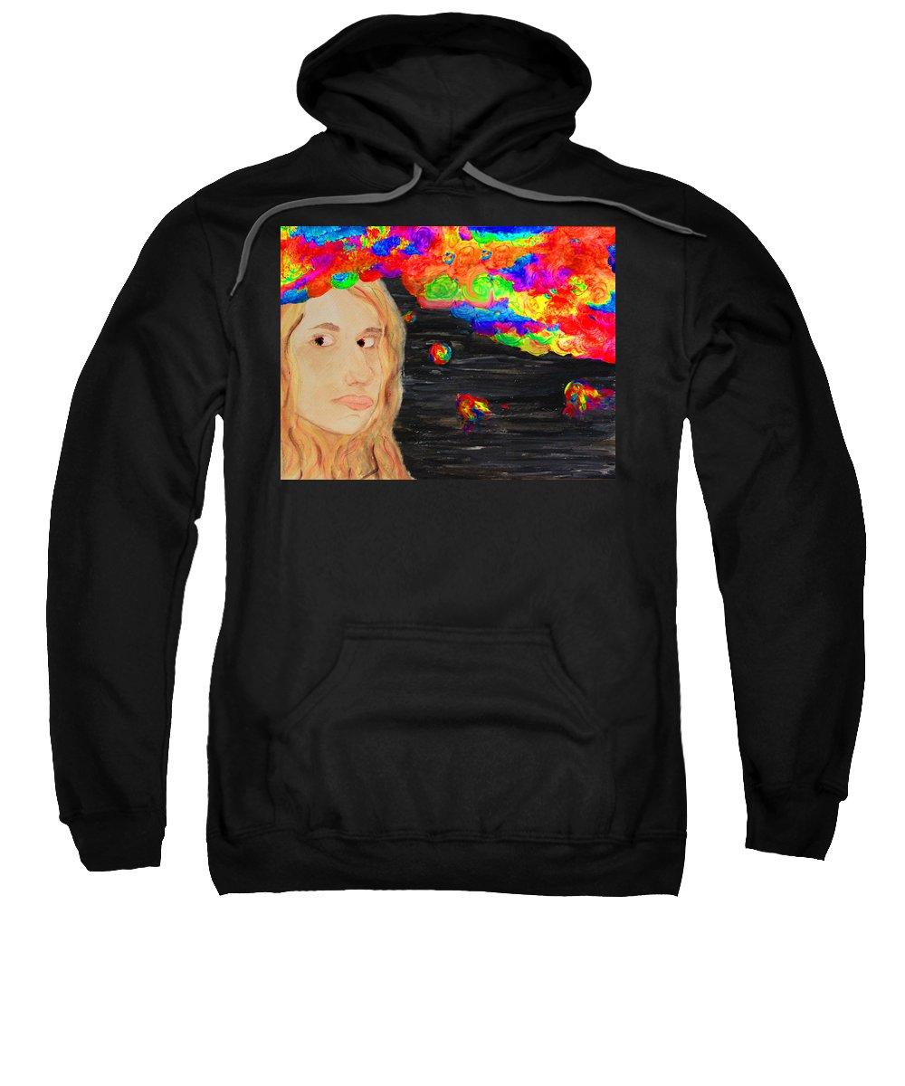 Surrealism Sweatshirt featuring the painting Creative Mind by Alyssa Zuercher