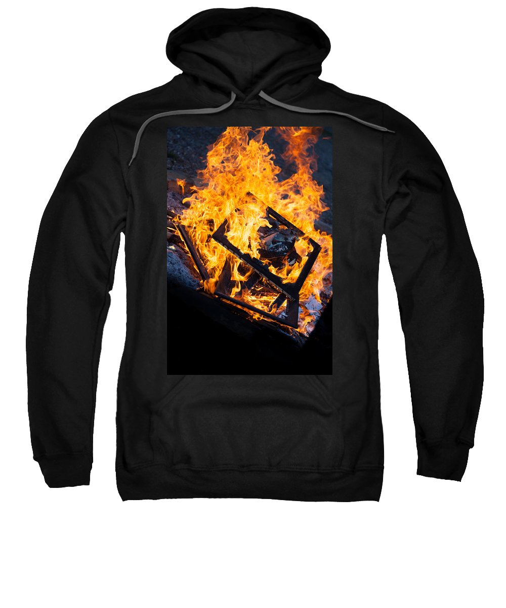 Fire Sweatshirt featuring the photograph Critique by Aaron Aldrich