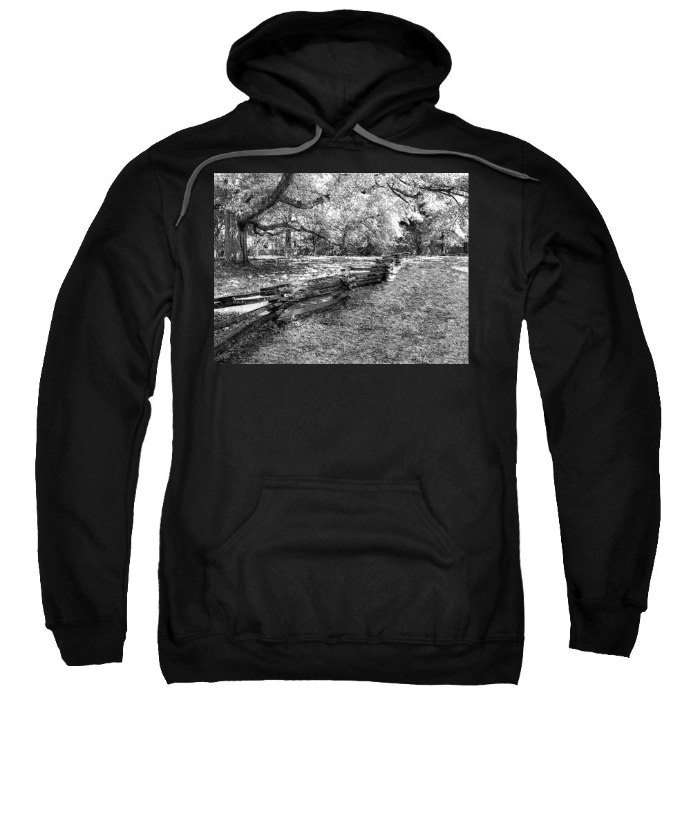 Fence Sweatshirt featuring the photograph Crooked Fence by Nadine Lewis