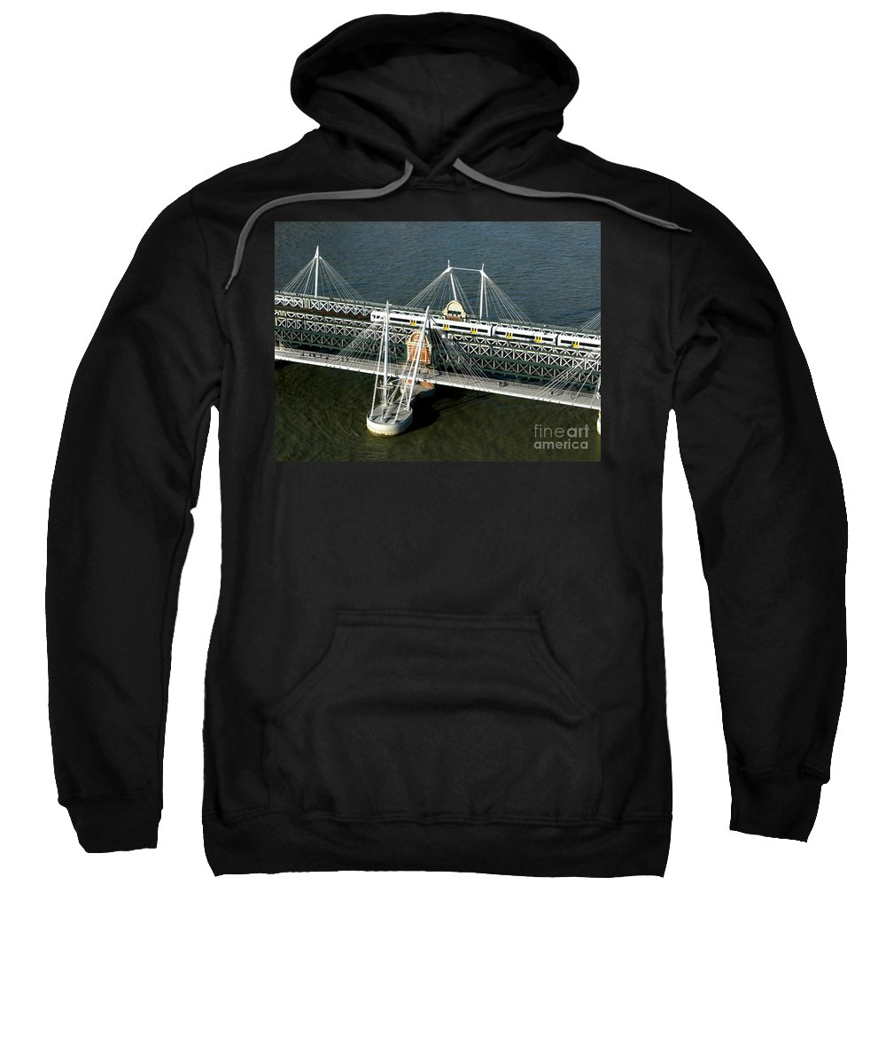 London Sweatshirt featuring the photograph Crossing The Thames by Ann Horn