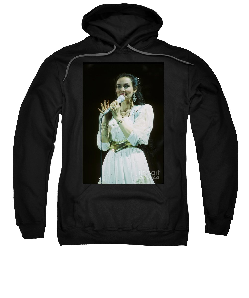 Vocalist Sweatshirt featuring the photograph Crystal Gayle by Concert Photos