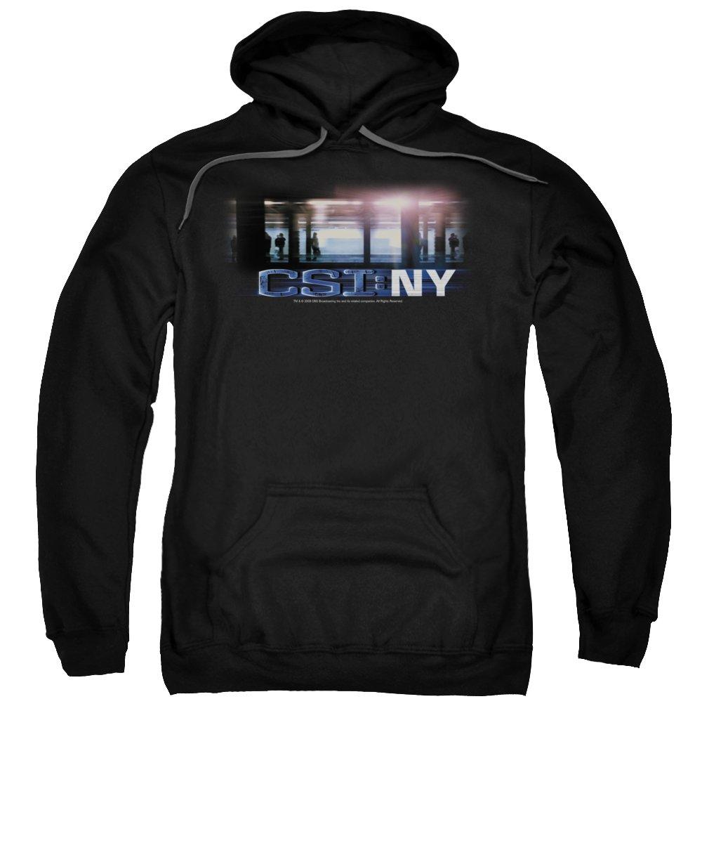 Csi Sweatshirt featuring the digital art Csi - New York Subway by Brand A