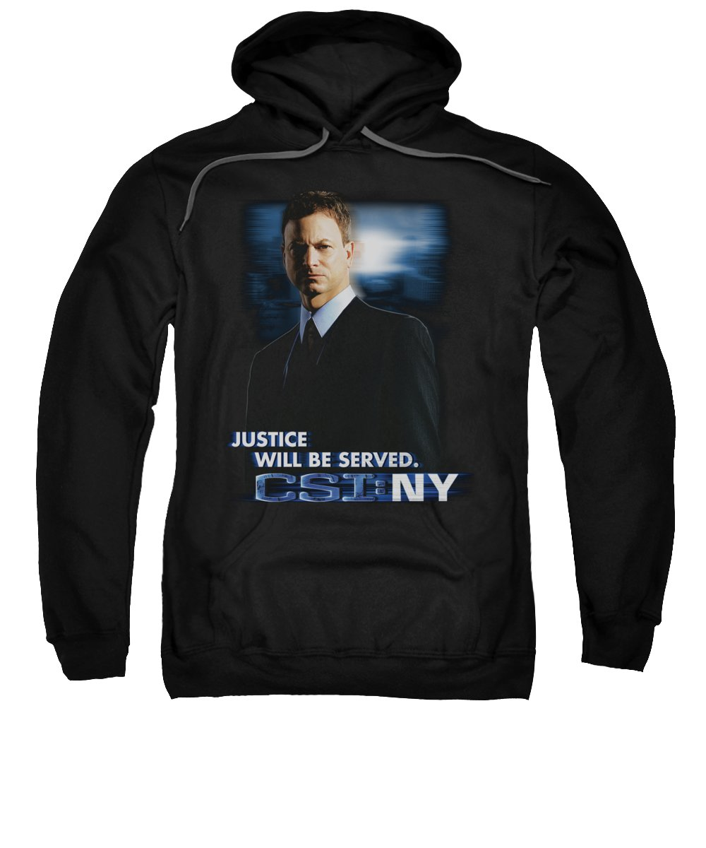 Csi Sweatshirt featuring the digital art Csi:ny - Justice Served by Brand A