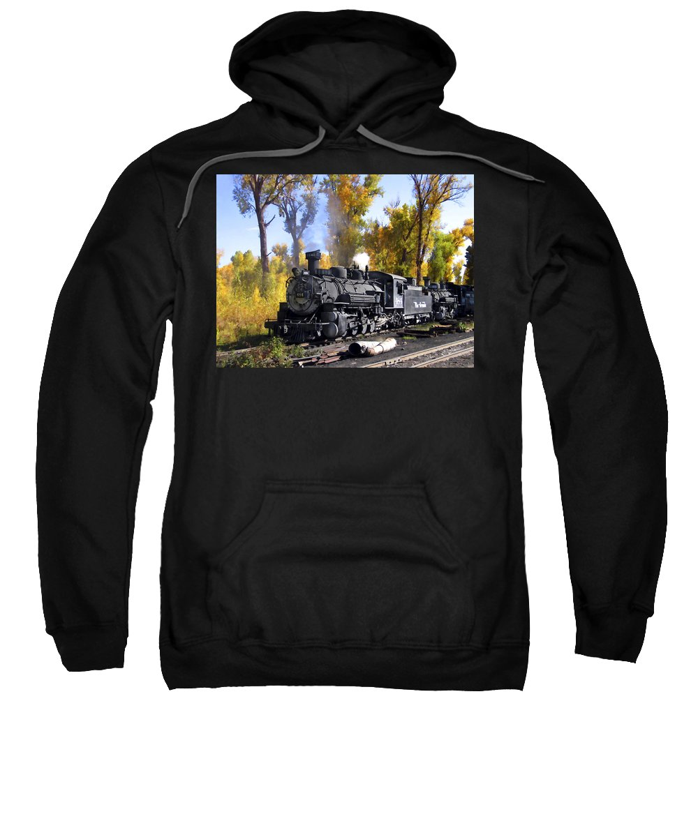 Train Sweatshirt featuring the photograph Cumbres And Toltec Railroad by Kurt Van Wagner