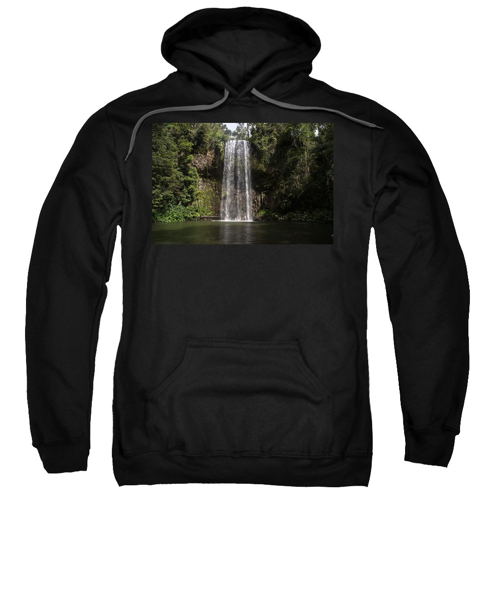 Australia Queensland Qld Sweatshirt featuring the digital art Curtain Falls by Carol Ailles