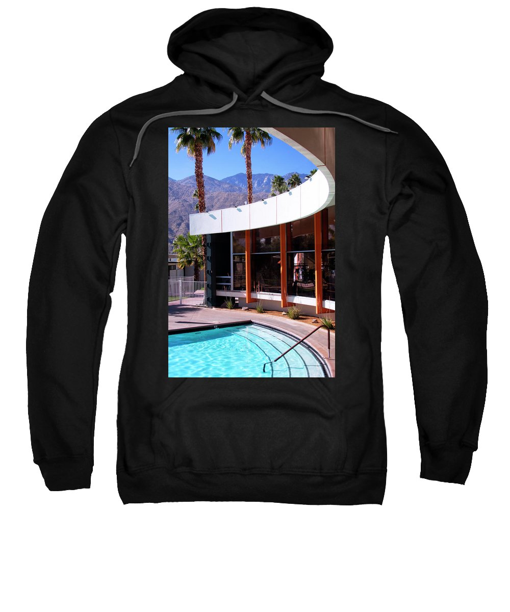 Pool Sweatshirt featuring the photograph Curves Ahead Ocotillo Lodge Palm Springs by William Dey