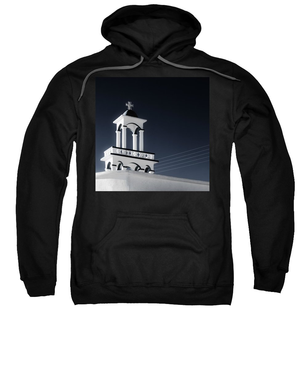 Cyclades Sweatshirt featuring the photograph Cyclades Greece - Andros Island Church by Alexander Voss