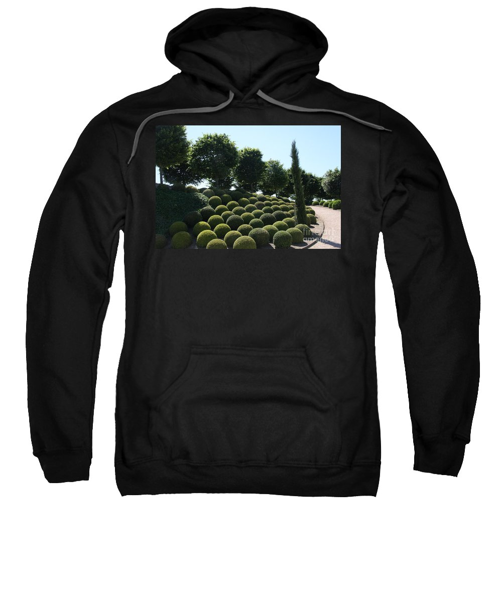 Cypress Sweatshirt featuring the photograph Cypress And Boxwood Garden by Christiane Schulze Art And Photography