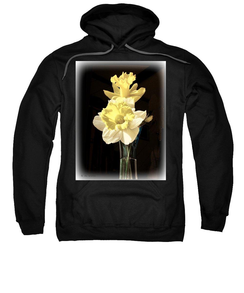 Daffodils Sweatshirt featuring the photograph Daffodils by Bonnie Willis