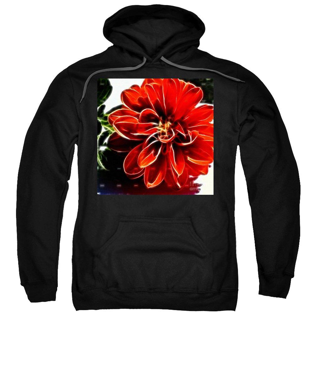 Dahlia Expressive Brushstrokes Sweatshirt featuring the photograph Dahlia Expressive Brushstrokes by Barbara Griffin