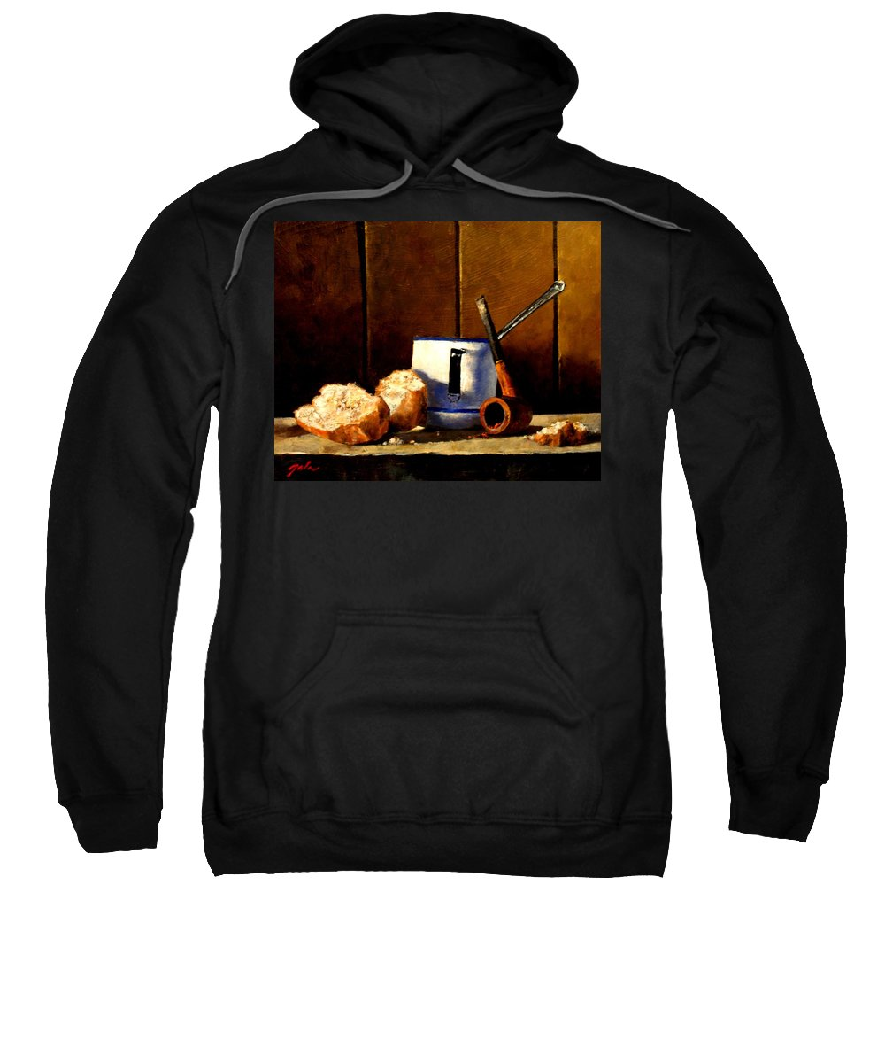 Still Life Sweatshirt featuring the painting Daily Bread Ver 1 by Jim Gola