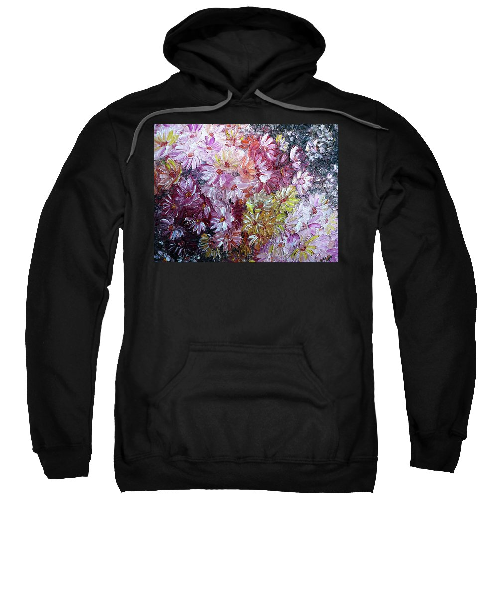 Flowers Sweatshirt featuring the painting Daisy Mix  Sold by Karin Dawn Kelshall- Best