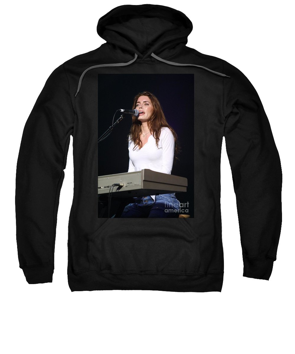 Appearance Sweatshirt featuring the photograph Dana Glover by Concert Photos