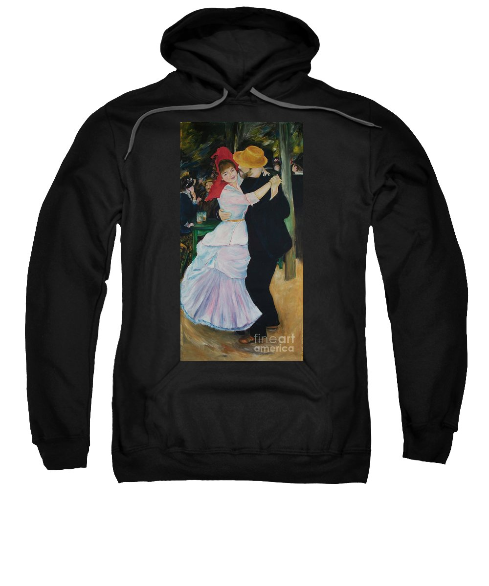 Impressionism Sweatshirt featuring the painting Dance At Bougival Renoir by Eric Schiabor