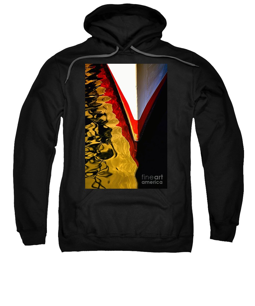 Abstract Sweatshirt featuring the photograph Dance Upon The Bow by Lauren Leigh Hunter Fine Art Photography