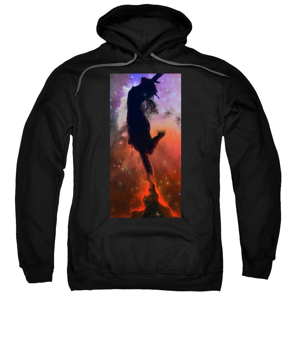 Dance Sweatshirt featuring the mixed media Dancing With The Stars by John Haldane