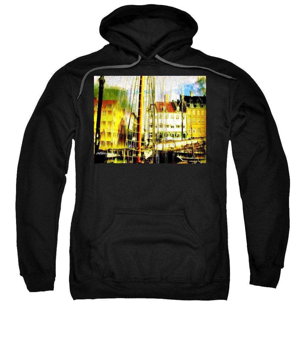 Cityscape Sweatshirt featuring the photograph Danish Harbor by Seth Weaver