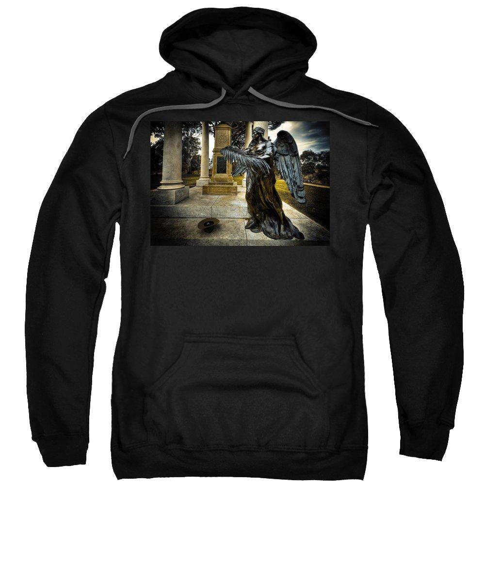 Angel Sweatshirt featuring the photograph Dark Angel by Wayne Sherriff