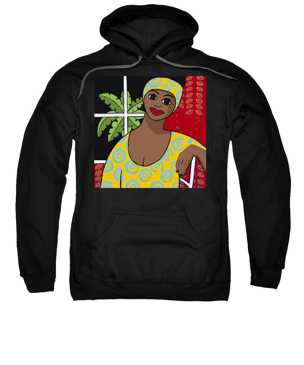 Trudie Canwood Sweatshirt featuring the painting Dark Outside by Trudie Canwood