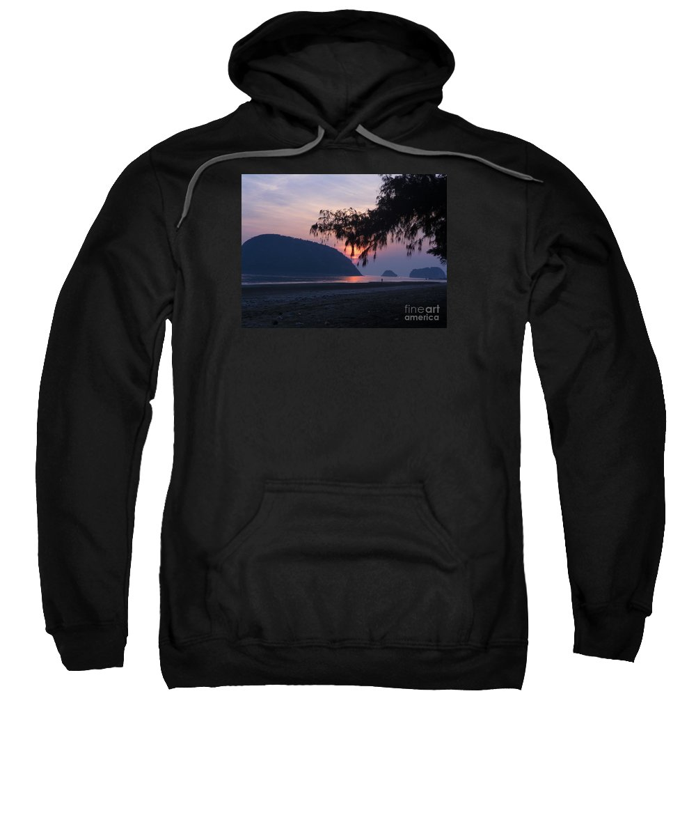 Landscape Sweatshirt featuring the photograph Dawn By The Sea by Pusita Gibbs
