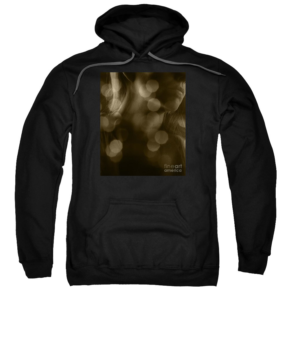 Festblues Sweatshirt featuring the photograph Daydreaming.. by Nina Stavlund
