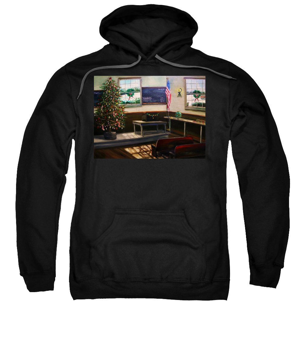 Oil Sweatshirt featuring the painting Days Til Christmas by John Williams