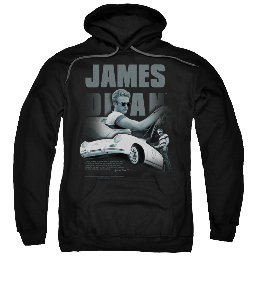 James Dean Sweatshirt featuring the digital art Dean - Immortality Quote by Brand A