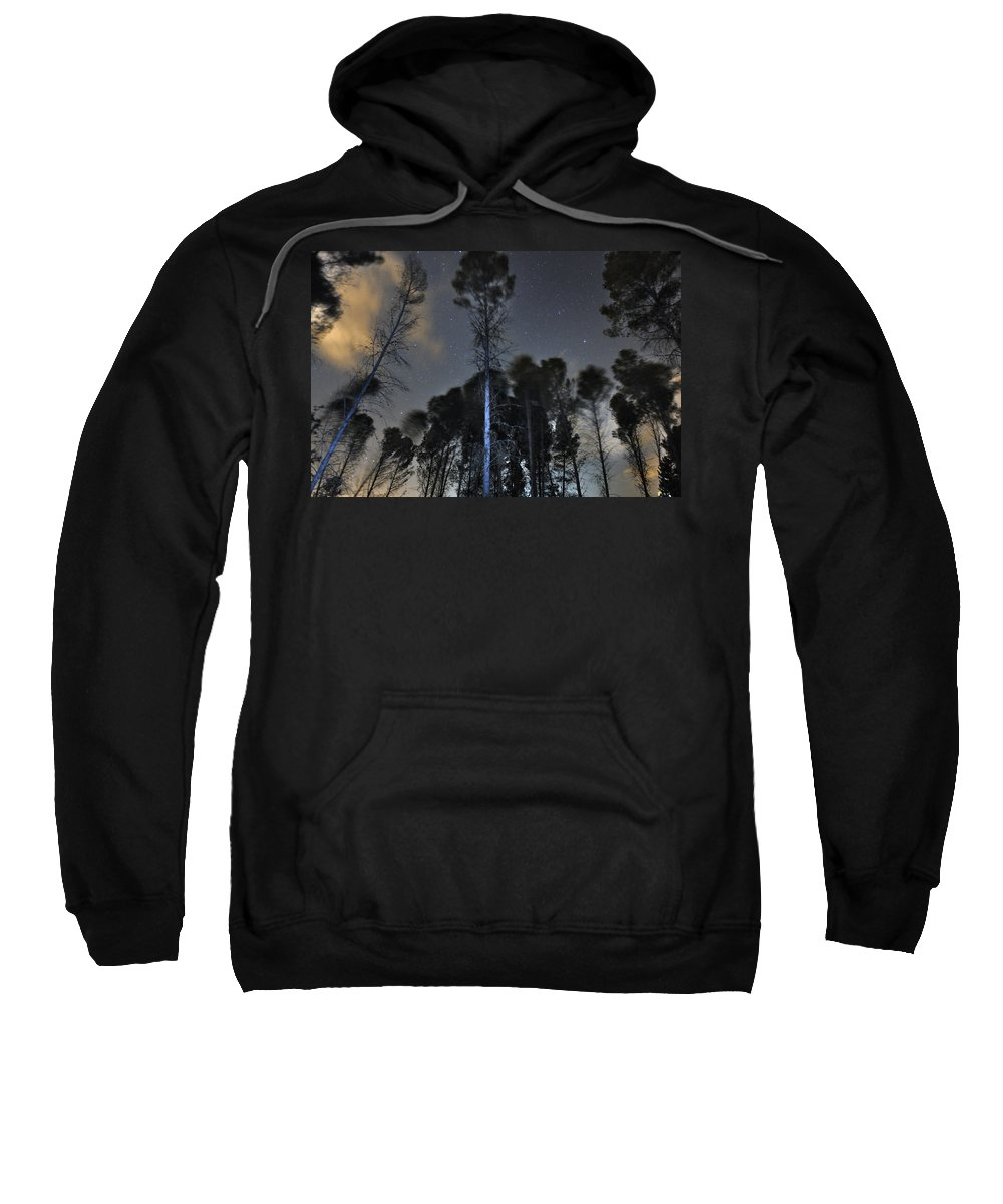 Astrophotography Sweatshirt featuring the photograph Deep Forest At Night by Guido Montanes Castillo